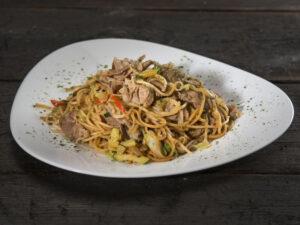 Ramen noodles with pork