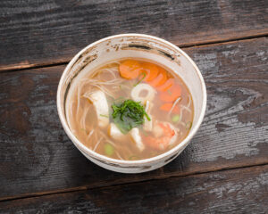 Seafood soba soup