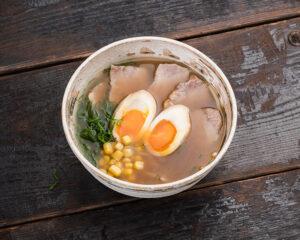 Shoyu ramen soup