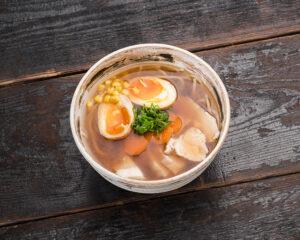 Tori shoyu ramen soup